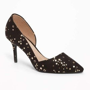 Old Navy Sueded D'Orsay Pumps in Gold Star -Size 9